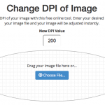 Free browser based image DPI converter screen capture